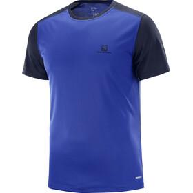Salomon Stroll t-shirt Heren blauw/zwart